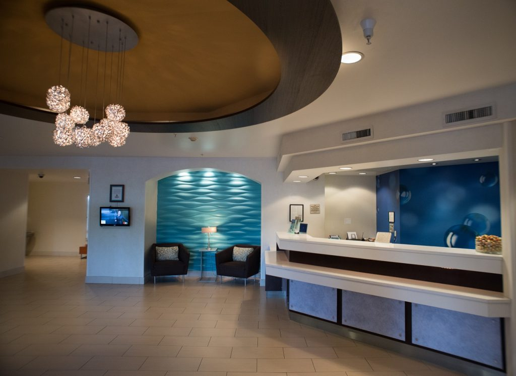 lobby of the SpringHill Suites